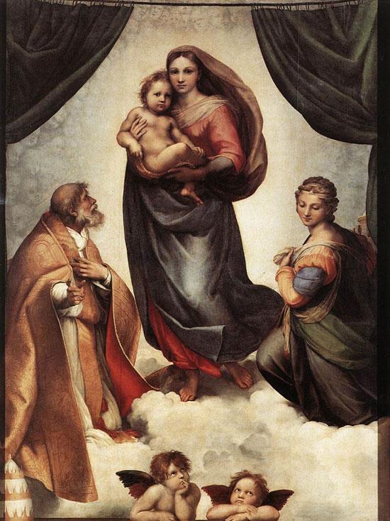 Рафаэль. Сикстинская Мадонна. Галерея старых мастеров, Дрезден, Германия