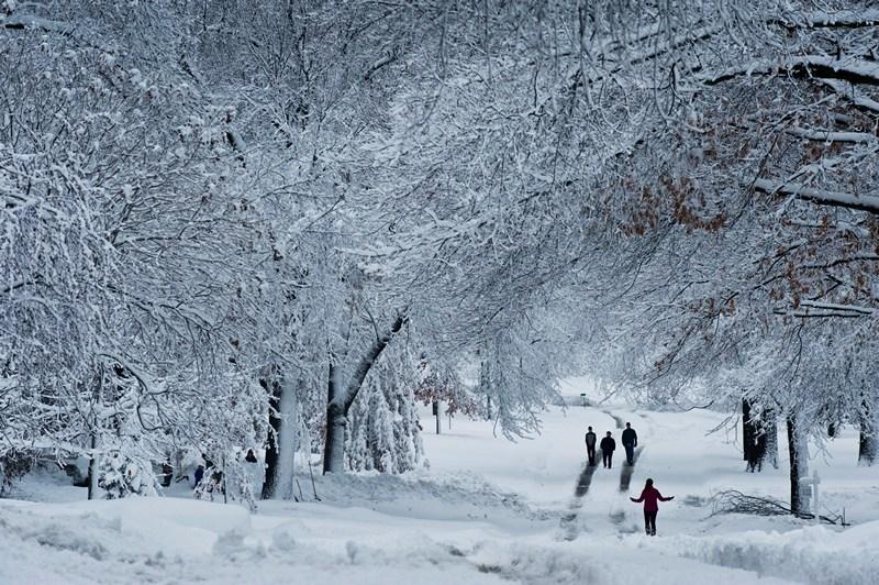 Прейрі Віллідж, штат Канзас, США, 26 лютого. Захід країни знову опинився в полоні сильних снігопадів. Фото: Julie Denesha/Getty Images