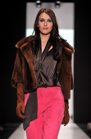 Элизабет Швайгер на Неделе моды Mercedes-Benz Fashion Week Russia. Фото: Pascal Le Segretain/Getty Images