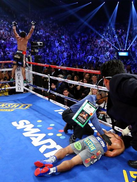 Хуан Мануель Маркес-Менні Пак'яо Фото: Al Bello /Getty Images Sport