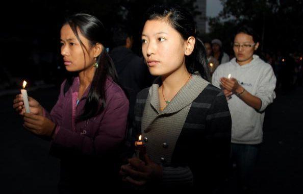 Нью-Дели (Индия). Мероприятия, посвящённые Дню прав человека. 10 декабря. 2008 г. Фото: GETTY IMAGES