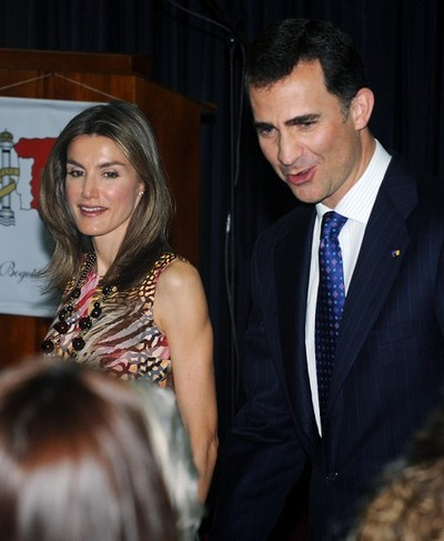 Принц Испании Felipe de Borbon и принцесса Letizia Ortiz. Фото: RODRIGO ARANGUA/AFP/Getty Images