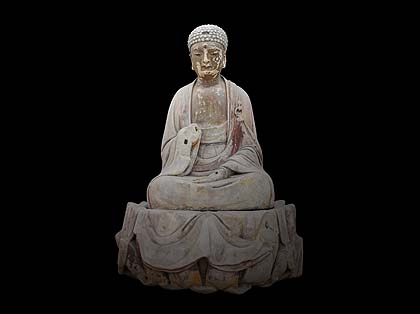 Будда Шакьямуни, Южная династия Сун, гора Сяофовань комплекса Баодиншань. Фото: Dazu Rock Carvings Museum, Chongqing, China/culture24.org.uk