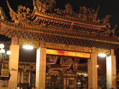 Храм Луншань. Тайвань. Фото с album.blog.yam.com