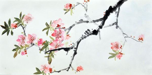 Квіти персика. Художник Жу І
