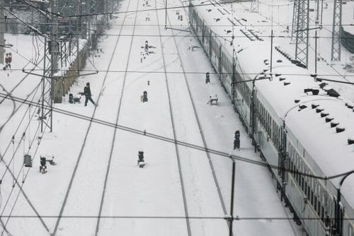 Вокзал города Нанкин 26 января 2008г. Фото: China Photos Getty Images