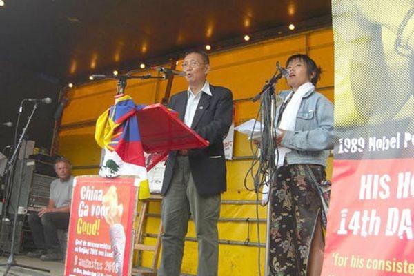 На митинге выступил Жэн Вандин. Фото: С сайта «Свободная Бирма»
