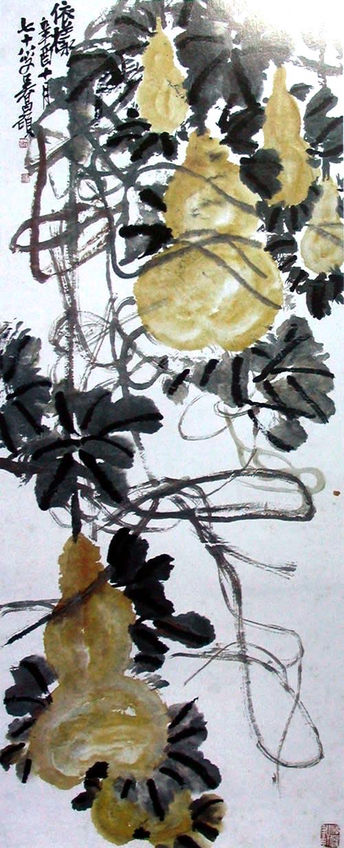 Тыква. Художник У Чаншо. 1921 г. Фото с secretchina.com