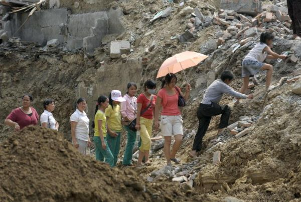 Повінь у м. Бейчуань провінції Сичуань. Фото: LIU JIN/AFP/Getty Images