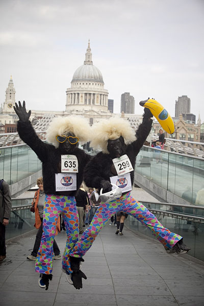 «Великий забіг горил» у Лондоні. Фото: greatgorillarun.org