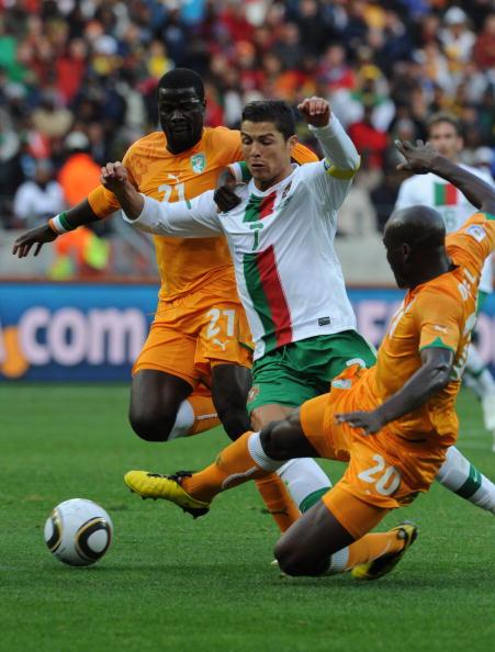 Кот-д'Івуар - Португалія Laurence Griffiths, Quinn Rooney, Lars Baron /Getty Images Sport