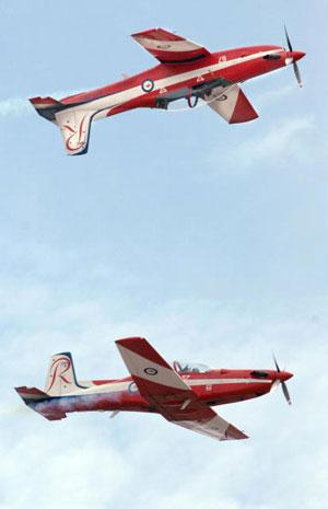 Королевские ВВС (Royal Air Force - сокращенно RAF) участвуют в международном авиашоу. Фото: Mark Dadswell/Getty Images