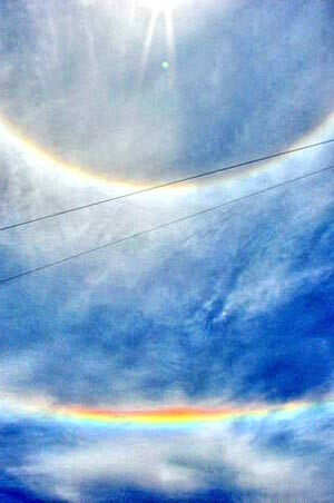 Двойная радуга вокруг солнца. Фото: Иван Поляков/Великая Эпоха