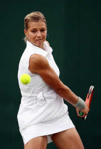Лондон, Великобритания:  Россиянка Мария Kirilenko во время Уимблдонского турнира. фото: Clive Brunskill/Getty Images