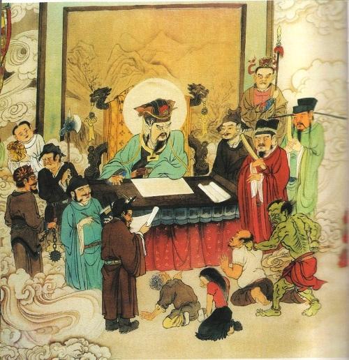 Первый уровень ада, им управляет Чин Куан Ван. Все души грешников сначала попадают сюда, где их судят и в соответствии с тяжестью грехов, отправляют в разные места ада для искупления. Фото: Цзян Ицзы