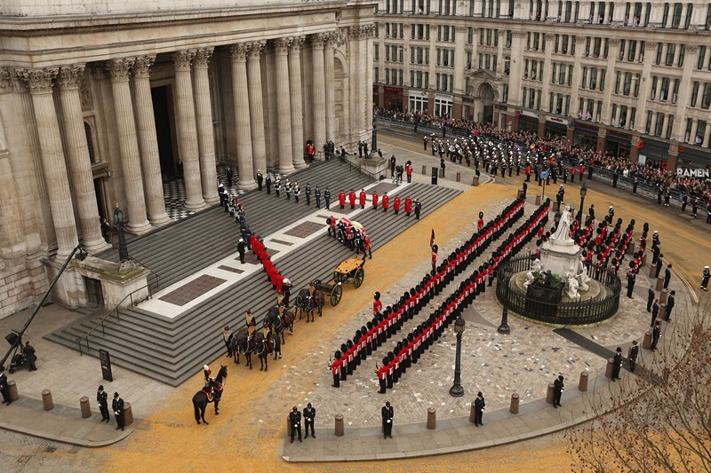 Лондон, Англія, 17 квітня. Церемоніальний похорон Маргарет Тетчер. Країна попрощалася із «Залізною леді». Фото: Oli Scarff/Getty Images