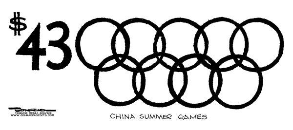 Олимпийские игры в Пекине – 43 млрд долларов США