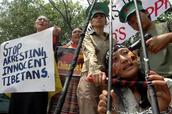 Акция в защиту Тибета в Индии. Фото: TAUSEEF MUSTAFA/AFP/Getty Images