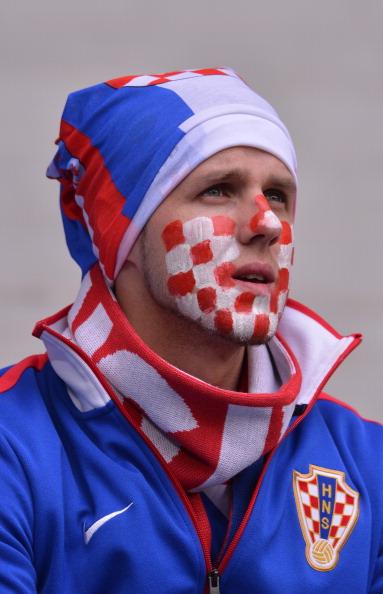 Шанувальник національної збірної Хорватії на матчі Італії проти Хорватії 14 червня 2012 року в Познані. Фото: GIUSEPPE CACACE/AFP/Getty Images
