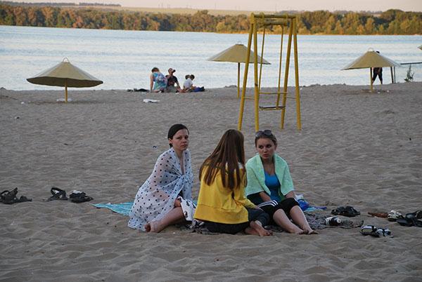Вечерний пляж. Фото: Елена Колодина/The Epoch Times Украина