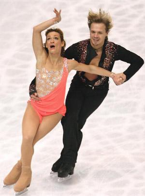 Болгарська танцювальна пара Albena Denkova і Maxim Staviski на чемпіонаті в Токіо. Фото: Koichi Kamoshida/Getty Images