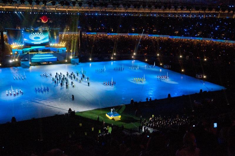 Стадіон «Олімпійський» відкрився в Києві після реконструкції. Фото: Володимир Бородін/The Epoch Times Україна