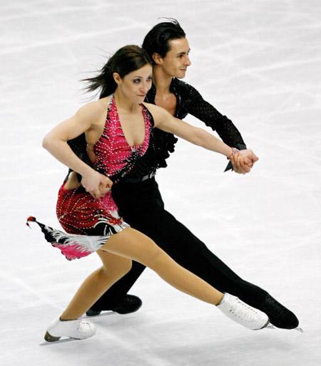 Італійська пара Federica Faiella і Massimo Scali на чемпіонаті в Токіо. Фото: TOSHIFUMI KITAMURA/AFP/Getty Images