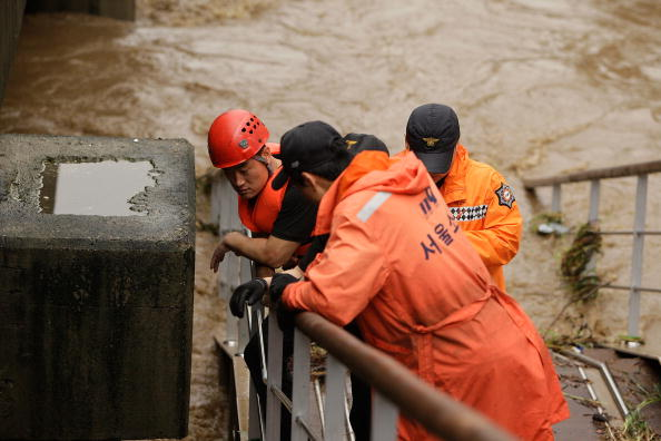 Наводнение в Южной Корее. Фоторепортаж