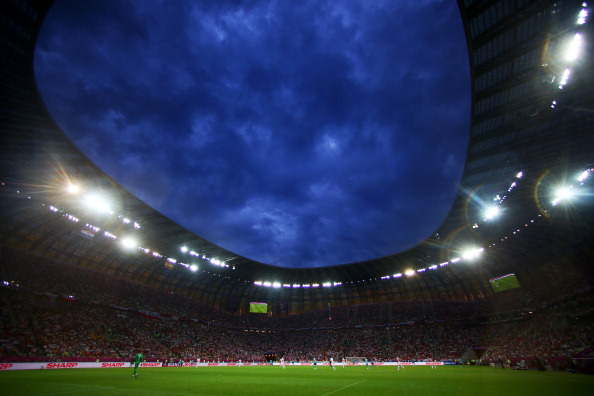 Матч Хорватія — Іспанія на стадіоні у Гданську, 18 червня. Фото: Michael Steele/Getty Images