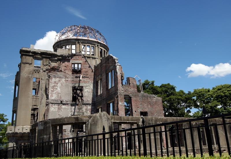 Хіросіма, Японія, 5 серпня. Меморіал «Атомний дім» в Парку миру. Японія готується вшанувати 67-у річницю першого атомного бомбардування. Фото: Buddhika Weerasinghe/Getty Images