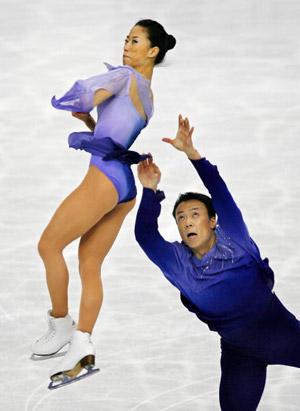 Китайська пара Shen Xue і Zhao Hongbo на чемпіонаті світу з фігурного катання. Фото: TORU YAMANAKA/AFP/Getty Images