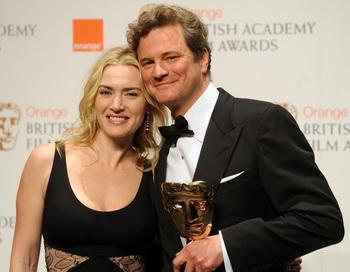 Церемония вручения наград Британской киноакадемии (BAFTA). Британский актер Колин Фёрт и британская актриса Кейт Уинслет. Фото: BEN STANSALL/AFP/Getty Image