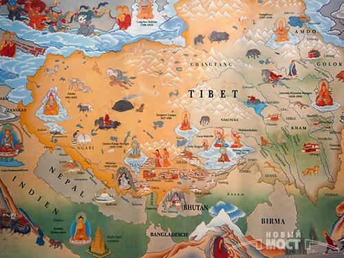 Маршрут первооткрывателей Тибета на карте. Фото: ИА НОВЫЙ МОСТ