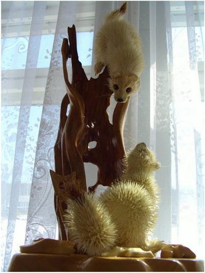 Горностаи. Сибирский кедр, ива, талина. Дмитрий Пономарев/The Epoch Times