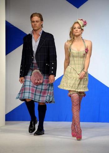 Показ Dressed To Kilt в шотландському стилі. Фото: Getty Images