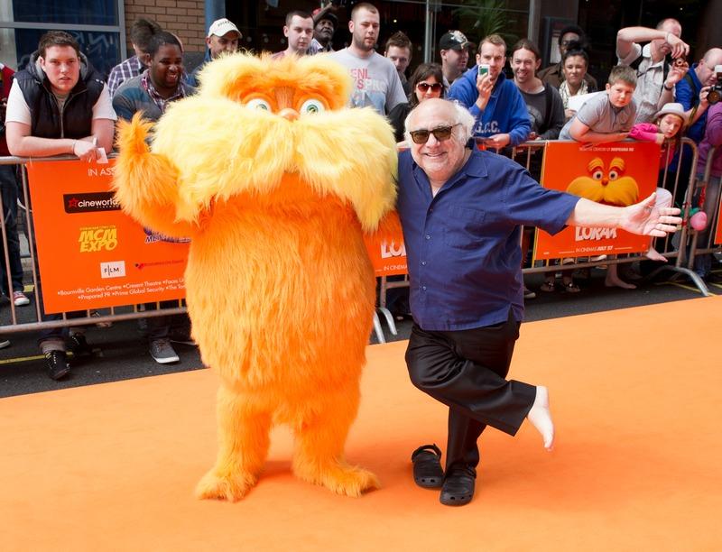 Бірмінгем, Англія, 22 липня. Актор Денні де Віто на прем'єрі мультфільму «Лоракс». Фото: Simon Burchell/Getty Images