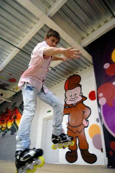 Міжнародний роллер-фестиваль у Києві пройшов 15 листопада 2009 року. Фото: Володимир Бородін / The Epoch Times