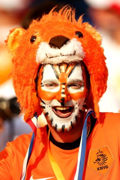 Голландский болельщик на матче между Нидерландами и Данией 9 июня 2012 года в Харькове, Украина. Фото: Ian Walton/Getty Images