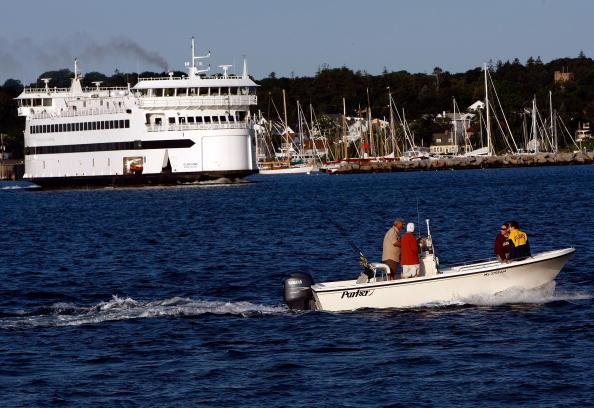 Туристический корабль покидает порт. Фото: Win McNamee/Getty Images