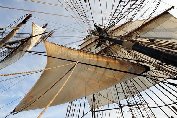 На борту немецкого судна Roald Amundsen (Руаль Амундсен). Фото: Archiv Hanse Sail Rostock