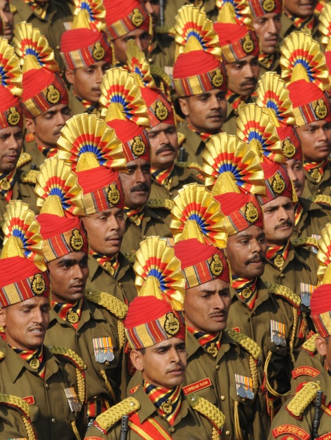 Полицейские на параде в честь Дня Республики. Нью-Дели, Индия, 26 января 2012 г. Фото: RAVEENDRAN/AFP/Getty Images