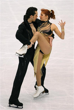 Російська пара Jana Khokhlova і Sergei Novitski на чемпіонаті в Токіо. Фото: Koichi Kamoshida/Getty Images