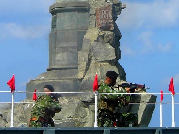 Имитация боя морских десантников. Фото: Алла Лавриненко/The Epoch Times Украина