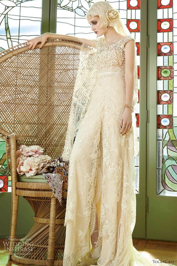 Весільні сукні від Yolan Cris «Мадемуазель Вінтаж 2013». Фото: weddinginspirasi.com