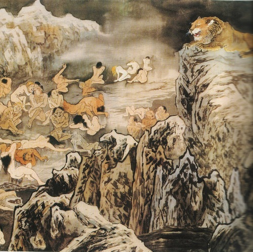 Второй уровень ада, им управляет Чу Цзян Ван. Это холодное место со льдом. Те, кто при жизни занимался стриптизом или же оголял своё тело, чтобы вызвать половое влечение, после смерти попадают в эту часть ада и голые мёрзнут тут. Фото: Цзян Ицзы