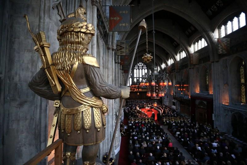 Лондон, Англия, 9 ноября. В ратуше состоялась ежегодная «молчаливая церемония», на которой был избран лорд-мэр города. Фото: Peter Macdiarmid/Getty Images