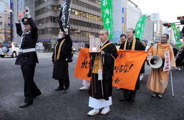 26 марта. Акция в защиту Тибета в Хиросиме. Фото: RICHARD A. BROOKS/AFP/Getty Images