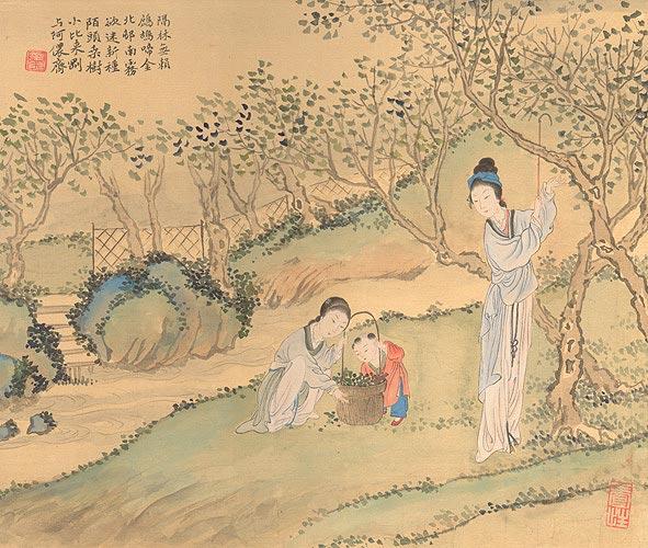 Китайская живопись. Картина художницы Чжан Цуйин