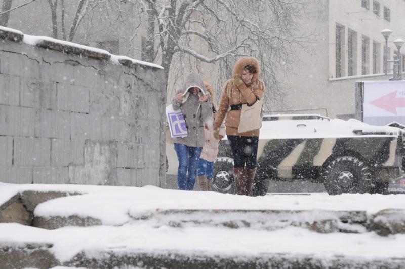 Київ накрив снігопад 22 березня 2013 р. Фото: Володимир Бородін / Велика Епоха