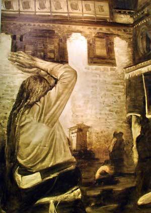 Сергей Форостовский. Моление. 160х113см, х.м.,2006г. Фото: Иван Поляков/Великая Эпоха
